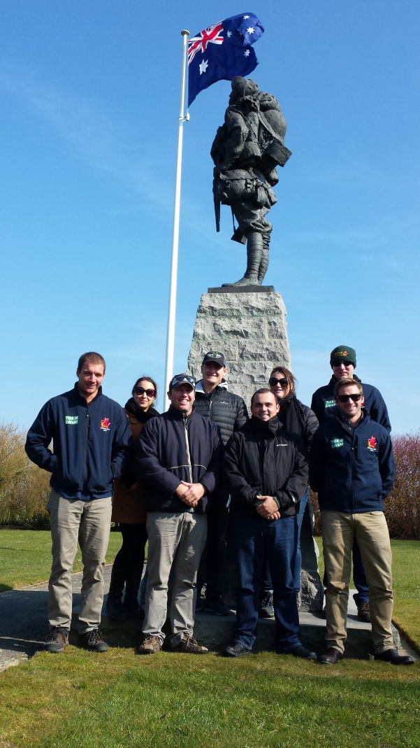 2016 Nuffield Scholars in Northern France on a tour of WW1 battlefields