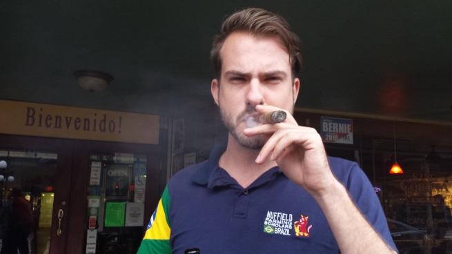 Brazilian Nuffield International Scholar Luciano Loman in the historic cigar quarter in downtown Tampa
