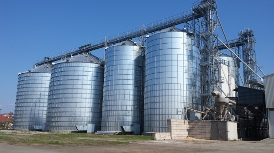 Grain silos in the Czech Republic
