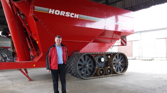 Michael Horsch, founder of Horsch ag machinery at his demo farm in Czech Republic