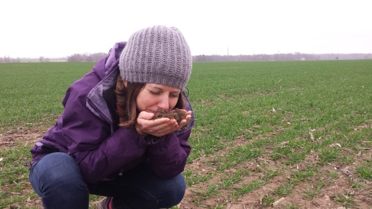 """Good soil should smell like a potato cellar"". Getting a good whiff on Michael Horsch's farm in Czech Republic"