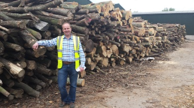 My Nuffield mentor Nic Small, Certainly Wood, Herefordshire