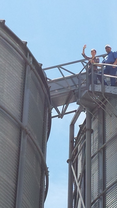 I always take the opportunity to climb a silo!