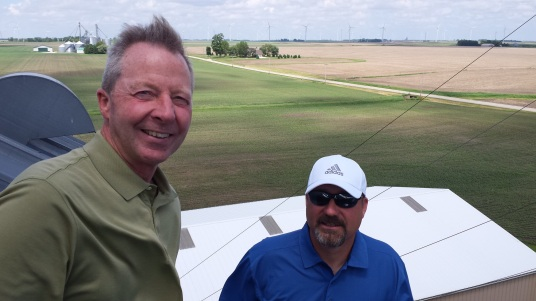 David Erickson, vice president of Illinois Farm Bureau and Jeff Kirwen, also from IFB.