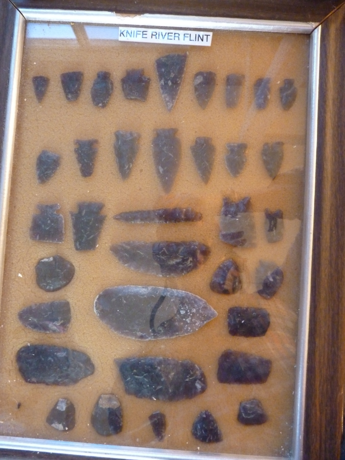 Arrowheads and tools, shaped by the previous occupants of this land - Native American tribes