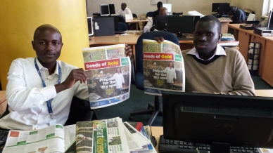 Julius Sigei and Michael Oriedo, Seeds of Gold, Daily Nation, Nairobi