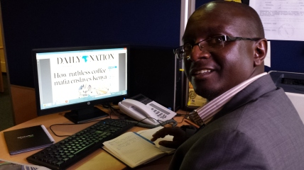 John Kamau, investigative reporter, The Daily Nation, Nairobi