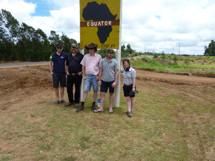 Nuffield Scholars on the equator