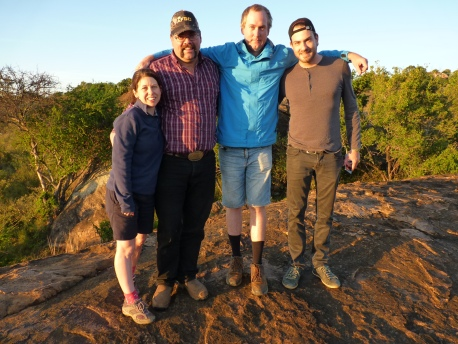 Me, Tim Smith (Canadian Nuffield Scholar), William Harrington (Aus) and Luciano Loman (Brazil) in Kenya