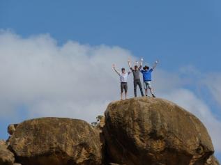Nuffield Scholars on a rock in Laikipia, Kenya