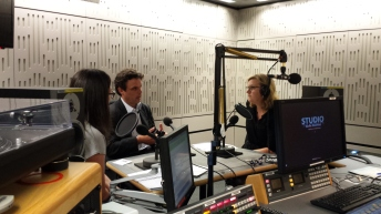 The legend that is Charlotte Smith at work in Broadcasting House, London.
