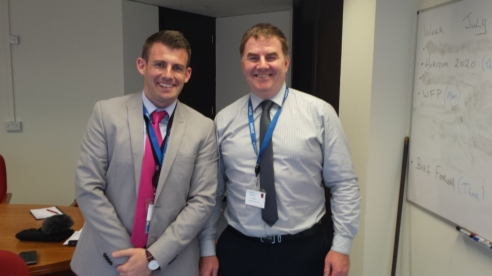 Jonathan Hoare and Ultan Waldron, Press Officer, Department of Agriculture, Dublin