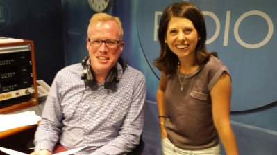 In the RTÉ Countrywide studio with Damien O'Reilly