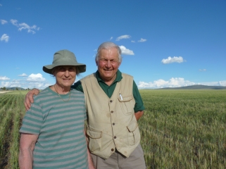 The late Jill Betts and her husband David in Kenya, April 2016
