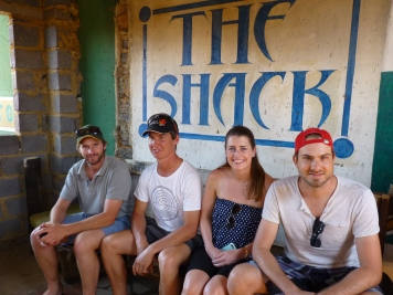 GFP: Lachie Green, Richard Fowler, Maeve O'Keeffe and Luciano Loman in The Shack, Johannesburg