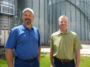 Jeff Kirwan, Board of Directors and David Erickson, Vice President of Illinois Farm Bureau