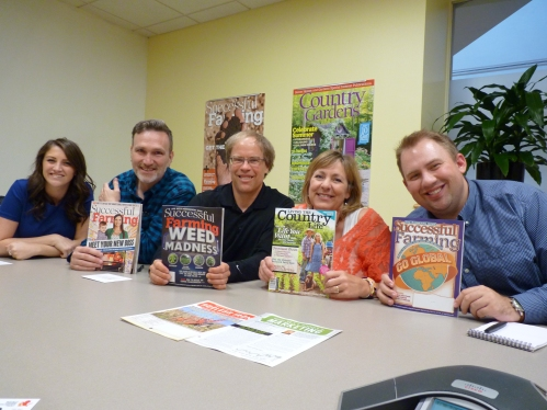 The team at Meredith Publishing in Des Moines, Iowa