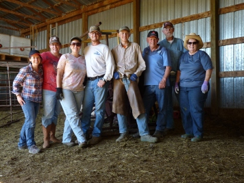 After branding calves in South Dakota - the Stomprud Family