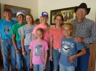 The wonderful Reinhold family on their ranch near Sturgis, South Dakota