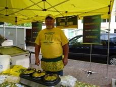 Corn dude! Alsum Sweetcorn at Madison Farmers' Market, Wisconsin