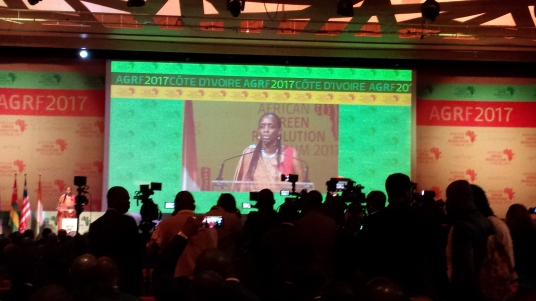 Dr Agnes Kalibata, President of Alliance for a Green Revolution in Africa (AGRA). AGRA is funded by the Bill and Melinda Gates Foundation and The Rockerfeller Foundation.