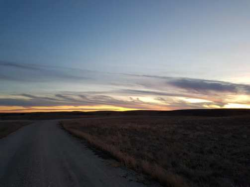 The road to Larry's ranch. A beautiful and atmospheric landscape.