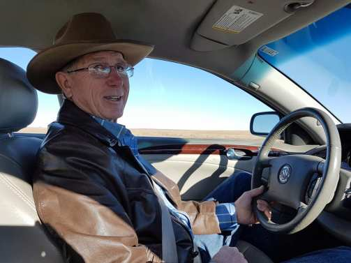 Larry Stomprud, President of the South Dakota Cattlemen's Association and my host during my trip. He's now a good friend. Thank you Larry for putting me up at the ranch!