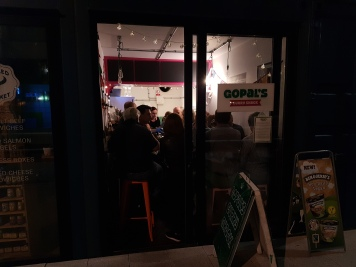 A vegan restaurant packed out with farmers!
