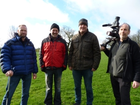 Cameraman Phil with Robert Thornhill, Stephen Thompson and Stephen Ware