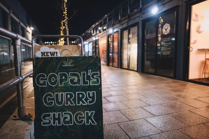Vegan Indian street food is a speciality at Gopal's Curry Shack on Wapping Wharf, Bristol