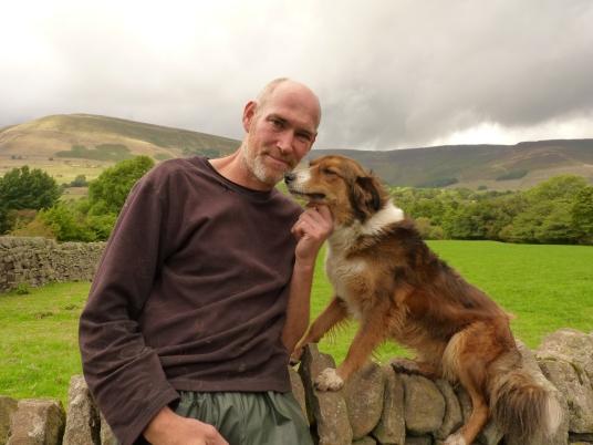 James Metcalfe and his sheepdog Tess