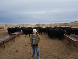 Me and some Black Angus cattle on Larry's ranch