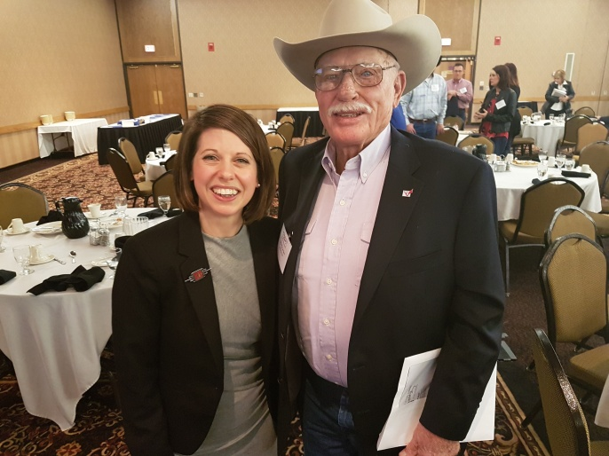 Anna Jones and rancher 'Shorty Jones' at the South Dakota Cattlemen's Convention in Pierre (2017). Considering I am 4ft11ins this was amusing to both of us.