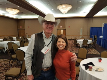 Rancher Lyle Perman and me at the South Dakota Cattlemen's Convention in Pierre (2017)