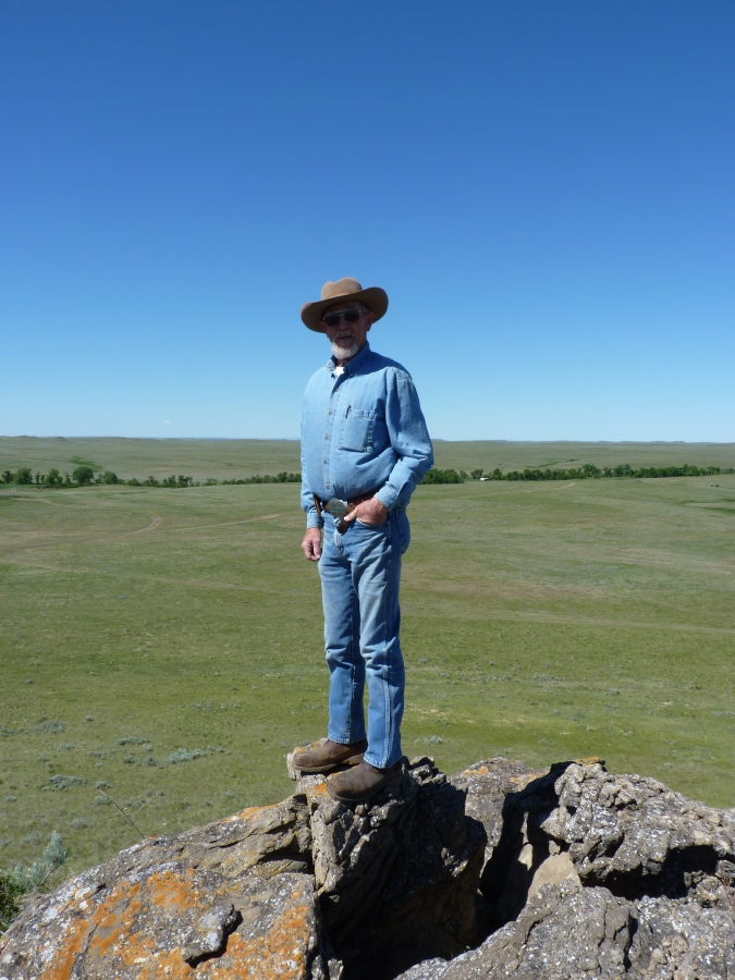Larry Stomprud on his ranch in summer, South Dakota