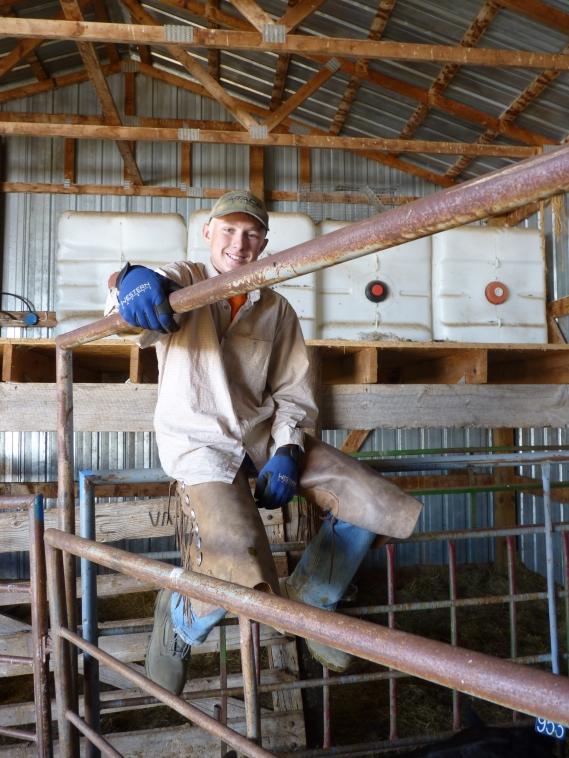 Cowboy in chaps - Larry's grandson